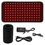 Red Light 660nm & Near Infrared 850nm Therapy Wrap Home Led Light Therapy for Pain Relief Large Pad Wearable Portable Device Waist Back Neck Joints Muscle Pain Remove Deep Penetrating Pain Relief