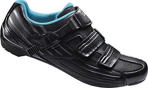 Shimano SH-RP3L Fietsschoenen voor dames, maat 42 SPD-SL klittenband/ratelv, meerkleurig, 42, ESHRP3NG420WL00