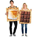 Party City S'Mores Snack Couple Halloween Costume, Adult, Standard Size, Chocolate and Marshmallow Graham Cracker Tunics