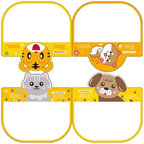 Fancy Children Sichtbare Cartoon-Face Shields Transparentes 𝐌𝐚𝐬𝐤 mit PET-Abdeckung Kitchen Oil Splash Protective Mask Cooking Protective 3/4/9/10PCS