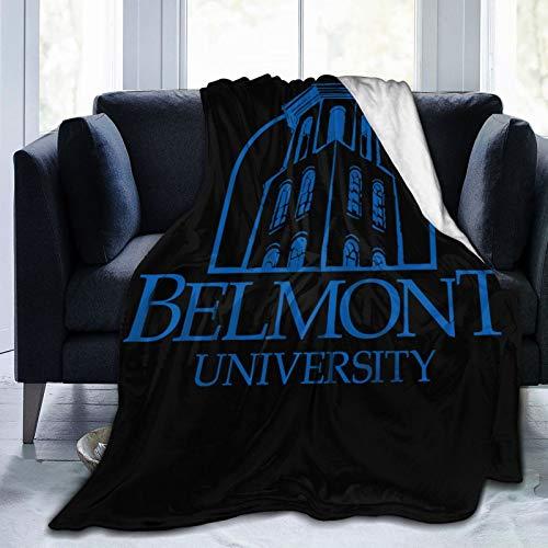 Be-lmont Team University Ultra-Soft Micro Fleece Blanket Super Soft Plush Fuzzy Bed Throw Microfiber Holiday Winter Cabin Warm Blankets (Black, 60'x50')