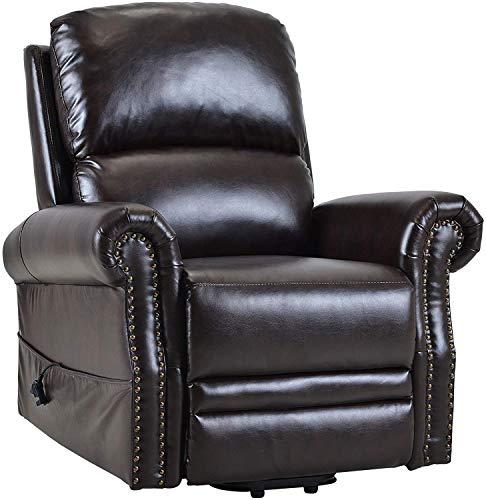 ZXCVB Sillón ergonómico con Control Remoto, Silla elevadora reclinable eléctrica para Ancianos, sofá Individual, Asientos de Cine en casa, Cuero PU