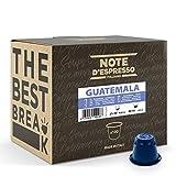 Note d'Espresso Italiano - Cápsulas de café de Guatemala compatibles con cafeteras Nespresso, 100 unidades de 5.6g, Total: 560 g