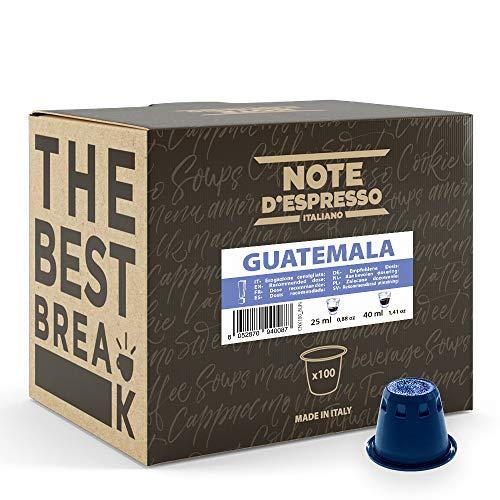 Note d Espresso - Guatemala - Cápsulas de Café - Compatibles con Cafeteras NESPRESSO* - 100 caps
