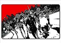 ●プレイマット マウスパット TCG万能 ペルソナ5 ☆『主人公 モルガナ 高巻杏 』アニメグッズ カードゲーム ザイズ60x35