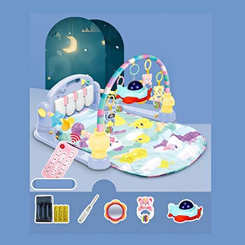 XLLLL Baby Playmats Activity Gym, Kick Play Piano Baby Gym Playmat, Thick Play Pad Actividad Musical Mat Soft Play Mat Marco De Fitness Infantil con Pedales De Piano,E