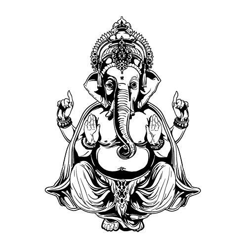 Ganesha elefante Buda Mandala Yoga pared pegatina DIY decoración del hogar vinilo pared calcomanía para sala de estar