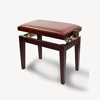 Gprice Artysta ławka fortepianowa taboret ze skóry PU, importowany buk, proste proste proste nogi, regulacja wysokości, pr...