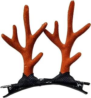 reindeer antler hair clips