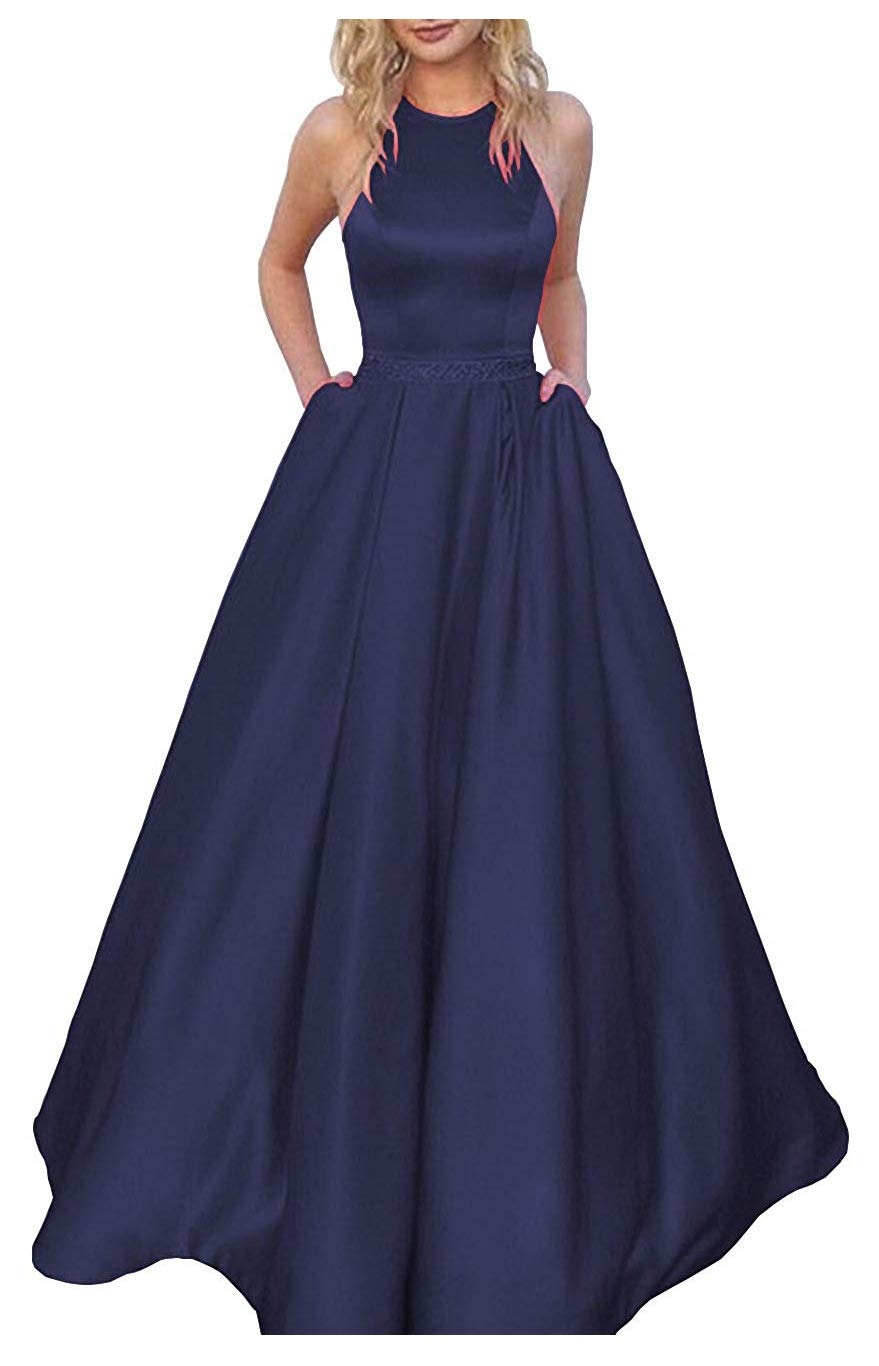 Prom Dresses - Women's Prom Dress Satin Bridesmaid Dress Evening Ball Gowns