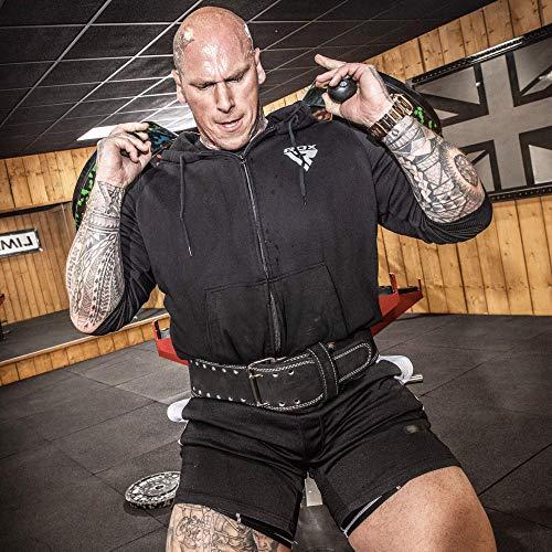 Authentisch RDX Gewichthebergürtel Nubuk Leder Kraft Gewichtheben Strap Rückenstütze DE - 3