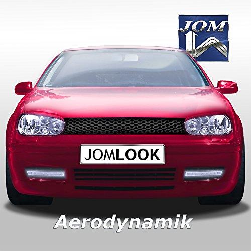 JOM Car Parts & Car Hifi GmbH 1J1853653MOE JOM calandre de radiateur sans Sigle Compatible avec Golf 4 / IV - Nid d'abeille - Qualité Allemande