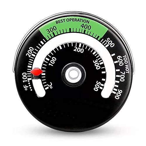 KKmoon Thermomètre de Poêle à Bois Magnétique, Thermomètre de Poêle à Ventilateur de Cheminée avec Sonde, Compteur de Température de Four à Barbecue Haute Sensibilité Domestique, 0 ℃ - 500 ℃