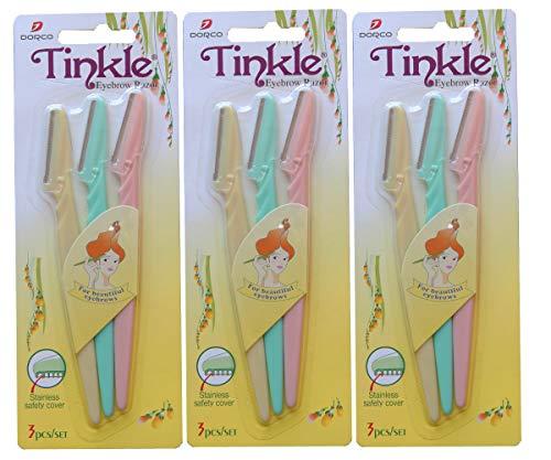 Price comparison product image 3 pk (9 razors) Tinkle Dorco Eyebrow Razor