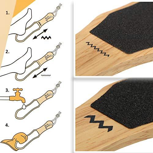 Robin Goods® 2X Hornhautraspel Fußfeile aus Holz, grob & fein | Hornhautfeile, Hornhautentferner in plastikfreier Verpackung, zur Entfernung von Hornhaut & Schwielen (2 Stück)