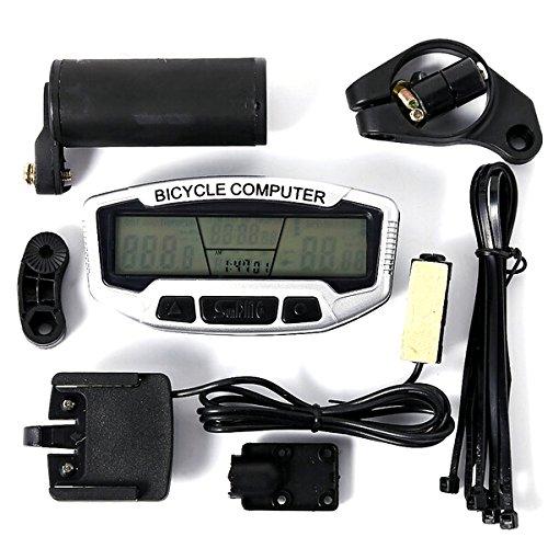 Bicicleta impermeable Foxnovo 28 funciones pantalla LCD ordenador cuentakilómetros velocímetro para metros...