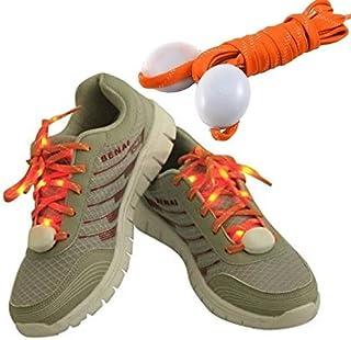 TofutureナイロンLEDグローShoelaces点滅安全ライトUp靴ヒップホップダンスの靴紐パーティーLED Slapブレスレットフラットファッション安全light-sports反射アームバンドCycle Gear Tie反射素材Shoelaces防水シリコンゴムフラットAthletic Running Shoe Laces