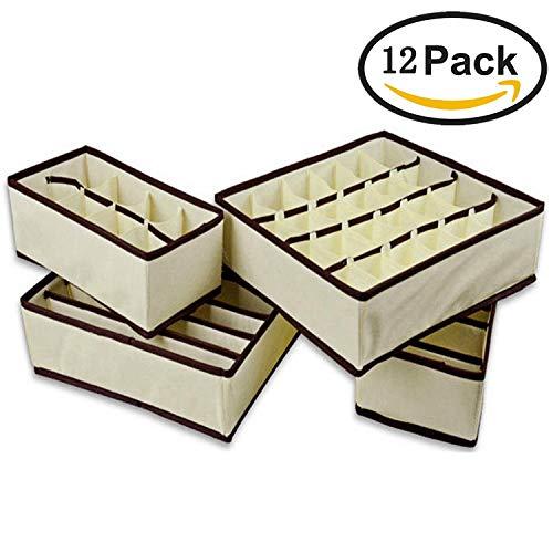 Gosear Organizador para Cajones, Tela sin tejer ropa interior ordenado práctico caja...