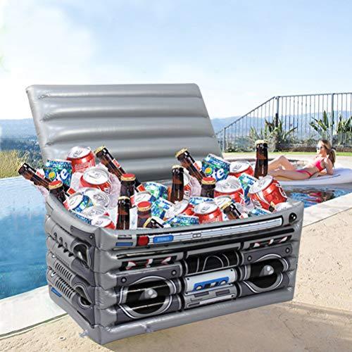 Oulian Aufblasbarer Getränkekühler Boom Box, Aufblasbare Schatzkiste, Aufblasbarer kühler Radio Model Eiskübel Halloween Party Supply Weihnachtsdekoration Spielzeug Outdoor Pool Zubehör