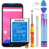 Motorola Moto X Pure Battery, MAXBEAR [3000mAh] Li-Polymer Built-in Battery SNN5964A FX30 Replacement for Motorola Moto X Pure Edition XT1572 XT1575 Style with Repair Tool Kits.[24 Month Warranty]