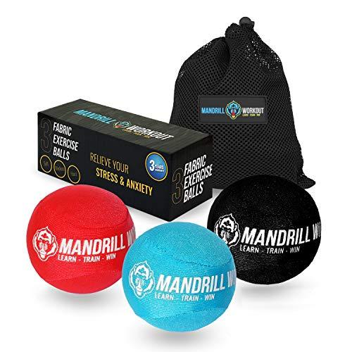 3PCS Hand Therapy Stress Balls, 3 Levels Stress Balls & Grip Strengthening, Therapeutic Hand Mobility & Restoration - Soft, Medium, Hard