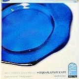 Antica VETRERIA TOSCANA - Plato de servir bajo plato bajo plato bajo cristal cristal artesanal italiano 34 cm