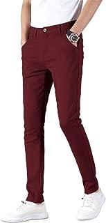Sponsored Ad - Plaid&Plain Men's Skinny Stretchy Khaki Pants Colored Pants Slim Fit Slacks Tapered Trousers