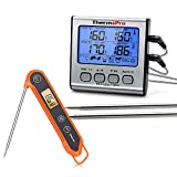 ThermoPro TP17 Digital Cooking Meat Thermometer+ThermoPro TP03H Digital Instant Read Thermometer
