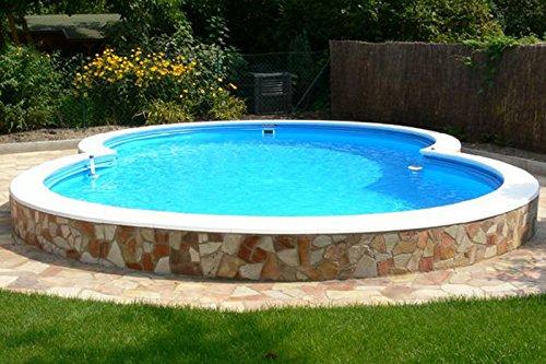 Waterman Achtformpool Becken-Set 120 cm Tiefe (SW:0,6 IH:0,6) 525 x 320 x 120 cm