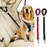 Cinturones de Seguridad para Coche, 2pcs de Correas Ajustables para reposacabezas de Coche, arnés para cinturón de Seguridad para Mascotas, Gatos, Perros