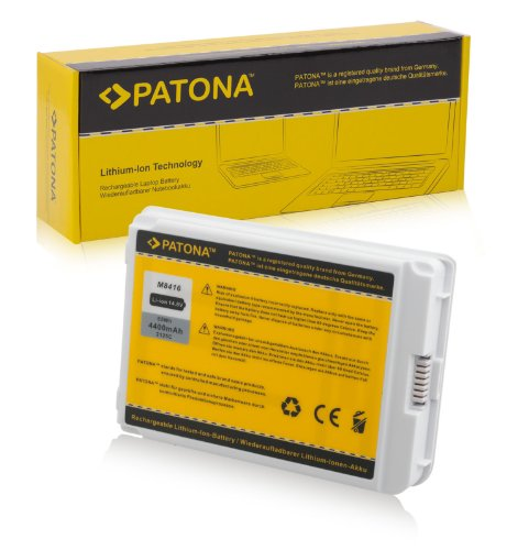 PATONA Laptop Akku für APPLE iBook G4 M9627 | M9628 | M9848 | M9627 | M9628 | M9848 | M9419 - iBook 14.1 LCD 32 VRAM | iBook 14.1 LCD 16 VRAM - APPLE iBook G3 (14-inch) M9388 | M9165 | M9009 | M8862 | M8603 | M7701LL-A und weitere... - [ Li-ion; 4400mAh; weiß ]