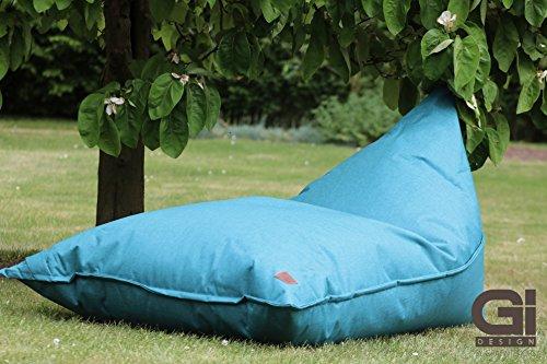 Grafinteriors XXL Sitzsack, Relaxsessel Chillout, Markenware von GI Design (Blau)
