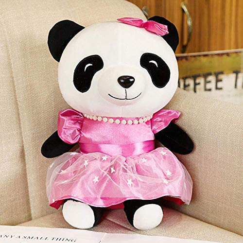 FGBV R 1 stücke 22/30 cm lebendige Kawaii Panda mit Rock plüschtiere weiche Cartoon rosa Panda gefüllte Puppe für mädchen Kinder geburtstagsgeschenk-22 cm_Rose Manmiao