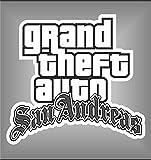 Autocollant Grand Theft Auto GTA San Andreas PSP XBOX Sticker