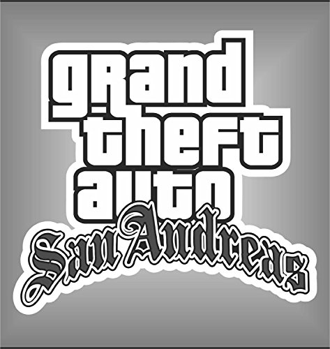 Aufkleber - Sticker Grand Theft Auto GTA San Andreas PSP Xbox Sticker