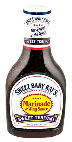 Sweet Baby Ray's Sauce & Marinade - Sweet Teriyaki - Net Wt. 16 FL OZ (473 mL) Per Bottle - Pack of 2 Bottles