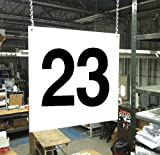 Stranco Inc Hanging Aisle Sign, 23, 1 EA PVC Board HPS-FS1212-23 - 1 Each