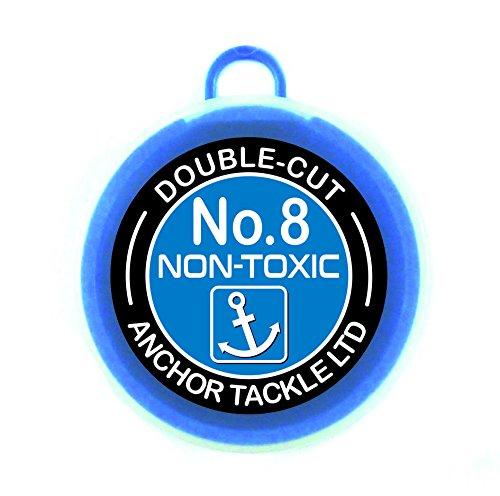 Anchor Tackle Unisex Dubbel geslepen badkuip maat 8, blauw, L