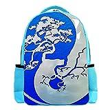 YATELI Mochila ligera para la escuela,Árbol de Yin Yang Bonsai , Mochila informal clásica básica resistente al agua para viajes con bolsillos laterales para botellas