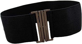 Irypulse Donna Elastico Retro Cintura vita alta Elasticizzato Moda Decorativo Classico Fibbia in lega di fiori Cinture Adatto per Abito Maglione Camicia Camicette Pantaloni