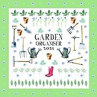 2021 壁掛けカレンダー - ガーデンオーガナイザーカレンダー 12 x 12インチ マンスリービュー 16か月 ホームオーガナイザーテーマ リマインダーステッカー180枚付き