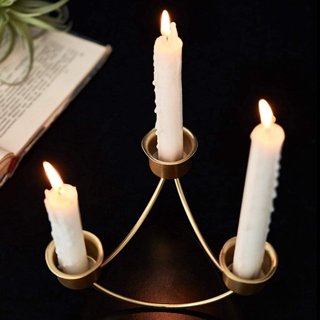 LINNSZ Nordic Style Wrought Large special price Iron Candle Candles Holder Geometric Sale item