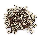 Fdit Alfabeto in Legno Misto Lettere A-Z 0-9 Numeri Decorazioni Fai-da-Te Fai-da-Te Bambini Giocattoli educativi di apprendimento precoce Giochi 200Pcs (#1 Letters)