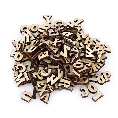 Fdit Alphabet aus Holz, gemischt, A-Z, Buchstaben, 0-9 Zahlen, Nicht gemalt, Basteln, Kinder-Dekoration, Lernspielzeug, Spiele, 200 Stück Lettres N ° 1