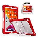 TopEsct Funda para iPad 10.2' 2019 7ª Generación - Carcasa Protectora Resistente Híbrida con Portalápices y Soporte Compatible con el Nuevo iPad 10.2', iPad Air 3 e iPad Pro 10.5'(Rojo)