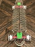 Ghost Long Board (Light up Green Wheels, 48' Fishbone Longboard