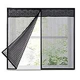 Cortina de pantalla magnética Mosquitera Autoadhesiva para ventana Malla magnética, Negra, Malla de malla de fibra de vidrio para ventanas, Material de las pantallas de las ventanas de repuesto, Mant