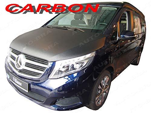 AB3-00371 CARBON OPTIK Vollbra Bonnet BRA für die ganze Motorhaube V-Klasse Vito Viano W447 ab 2014 Haubenbra Steinschlagschutz Tuning