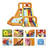 BESTWAY 53305 - Castillo Hinchable Acuático Tsunami Waves Summit Mega Parque 505x340x265...