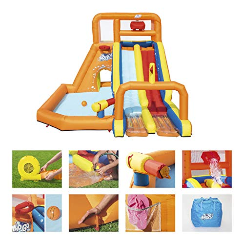 BESTWAY 53305 - Castillo Hinchable Acuático Tsunami Waves Summit Mega Parque 505x340x265 cm